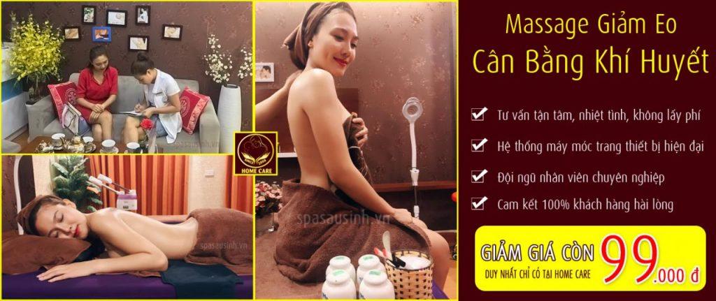 Dịch vụ massage cân bằng khí huyết tại Home Care Spa